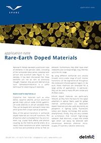 rare earth doped materials