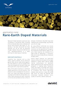 rare earth doped materials