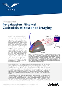 sparc polarization filtered cathodoluminescence imaging